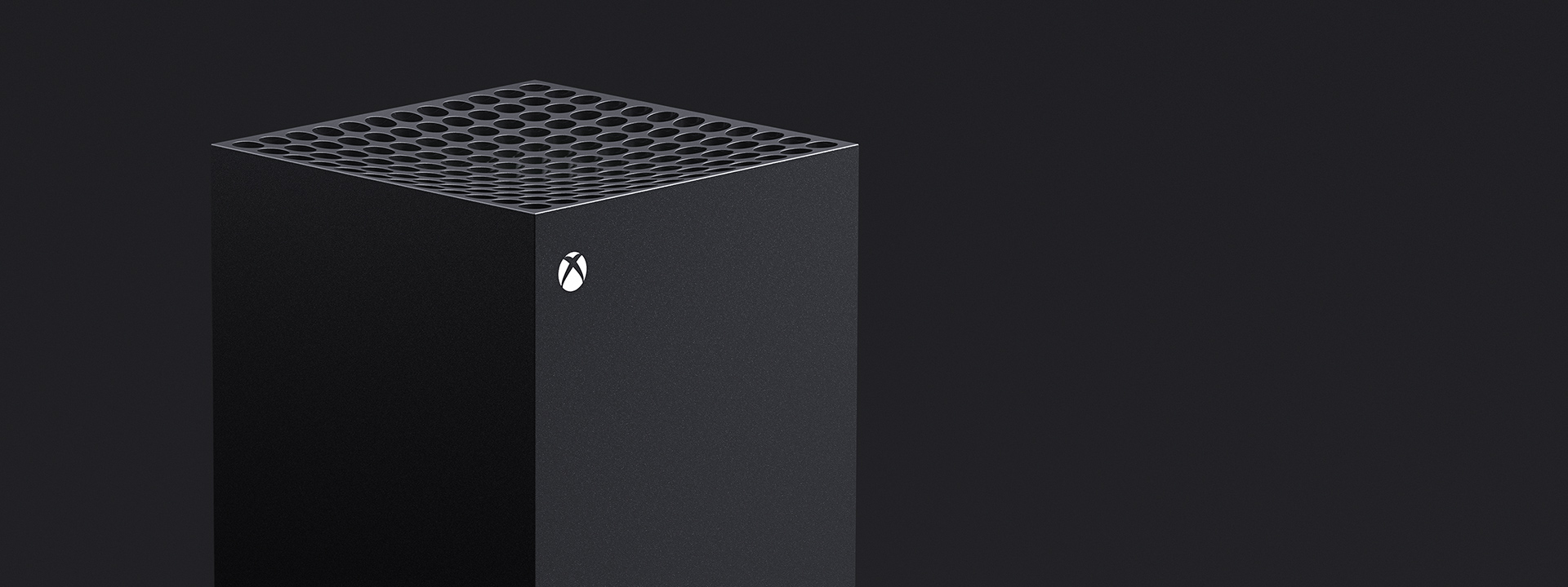 Close up view of an Xbox Series X