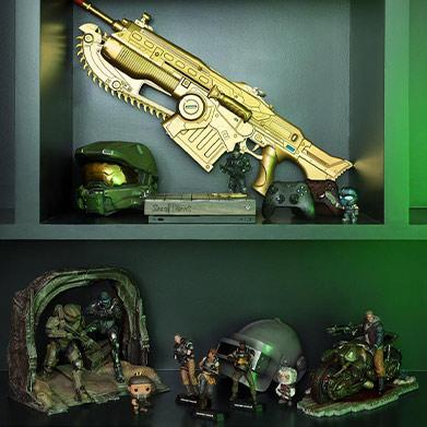 Collection of Xbox memorabilia