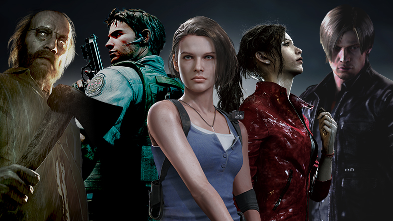 Several characters from the Resident Evil franchise.