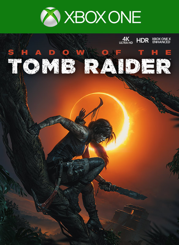 Shadow of the Tomb Raider, bild på förpackning
