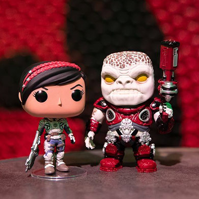 Gears 5 Funko Pop! figures of Kait and a Boomer