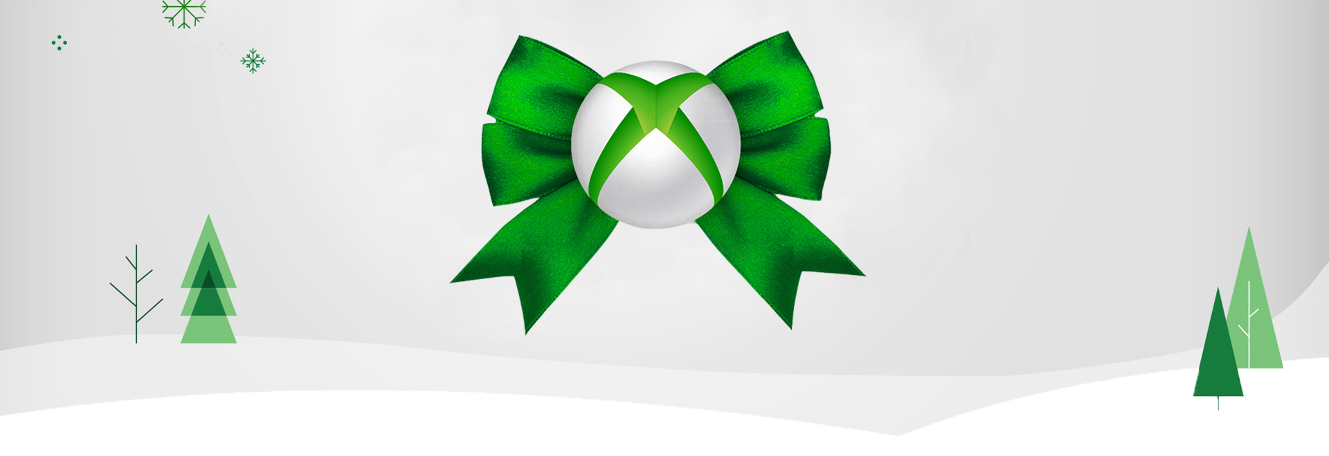 An image of a gift-wrapped Xbox logo