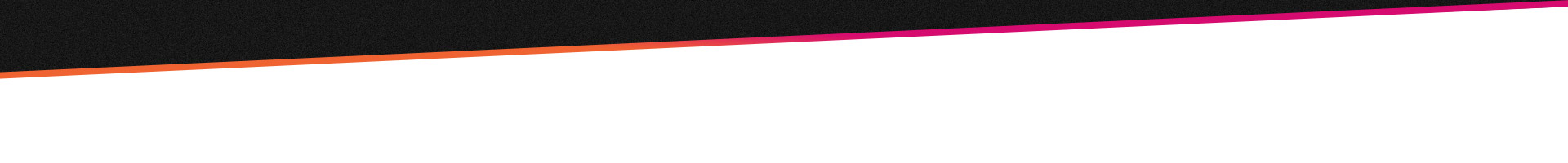 주황색에서 분홍색으로 그라데이션이 이어지는 선으로 장식한 검은 바