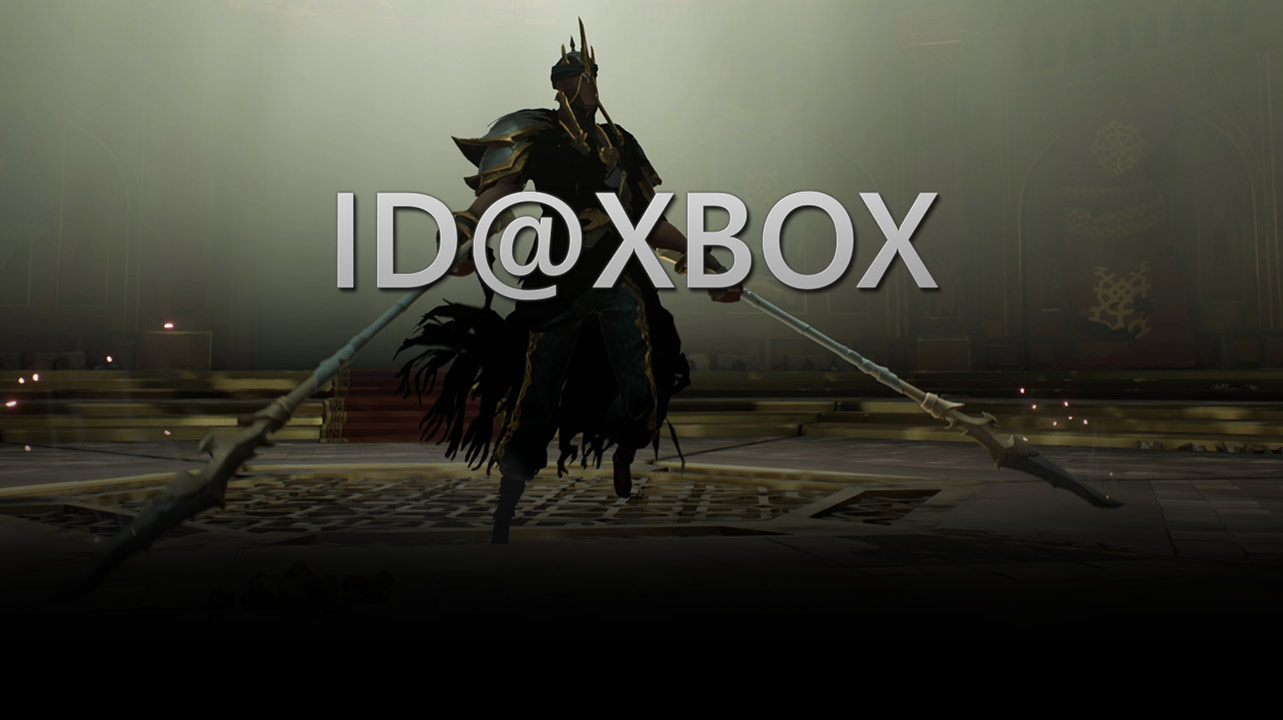 ID at Xbox logo, Ashen character wielding two swords