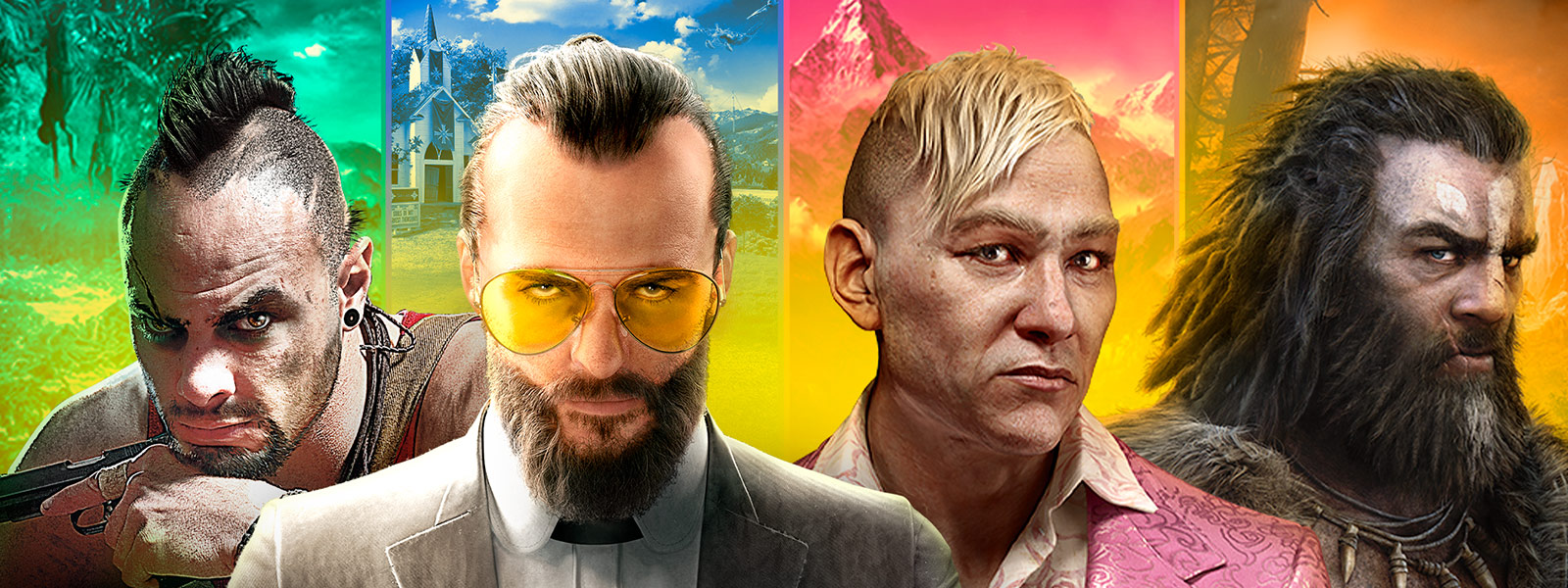various characters for Far Cry Franchise