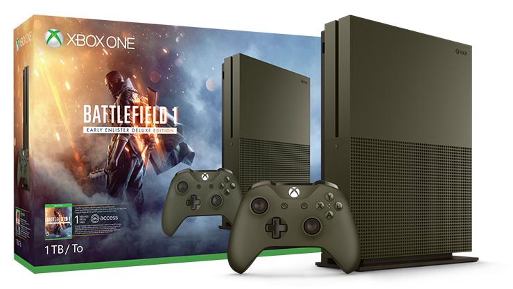 Balík konzoly Xbox One S (1 TB) s hrou Battlefield 1 Special Edition