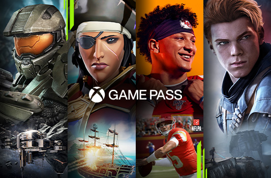 Xbox Game Pass characters, Gears 5, Halo, Sea of Thieves, Minecraft