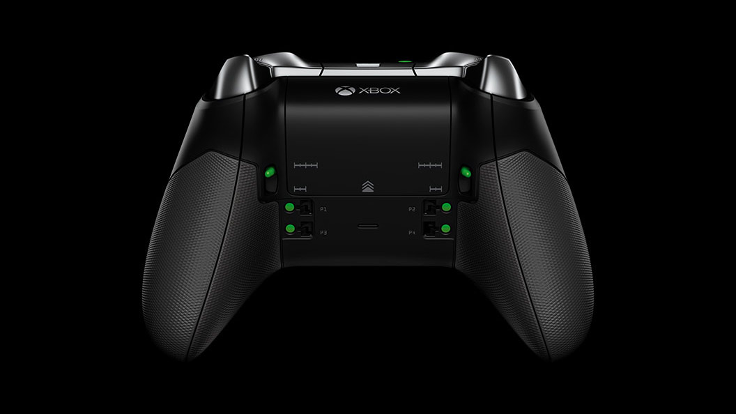 Elite Wireless Controller Underside View Xbox Elite
