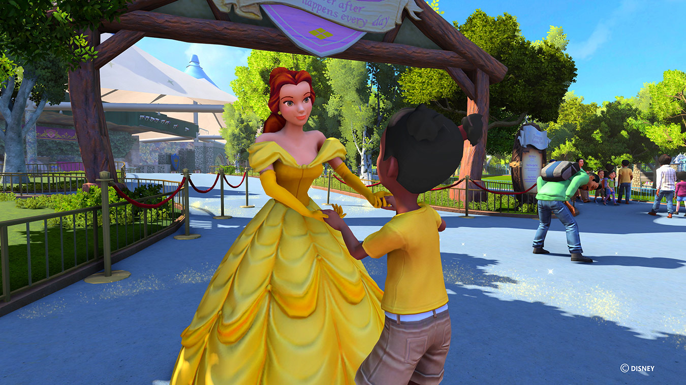 Belle dancing with child