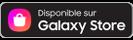 Bouton avec le logo Samsung Galaxy Store et le texte «Disponible sur le Galaxy Store»