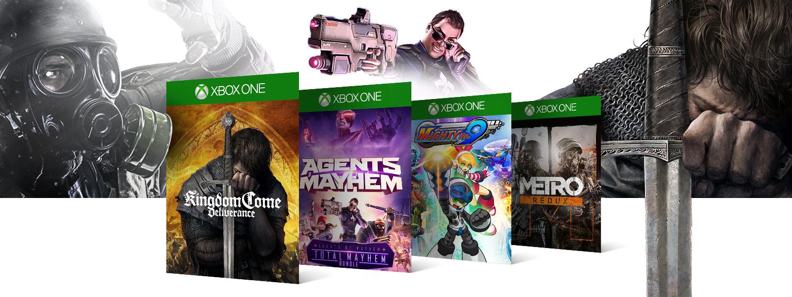 Kingdom Come Deliverance Agents Mayhem Mighty No 9 Metro Redux boxshots