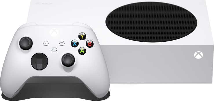 Xbox Series S console with Xbox Wireless Controller.