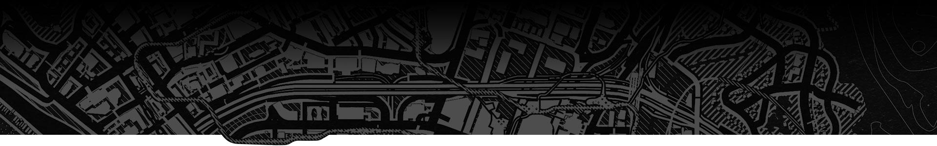 Los Santos 的黑白地圖。