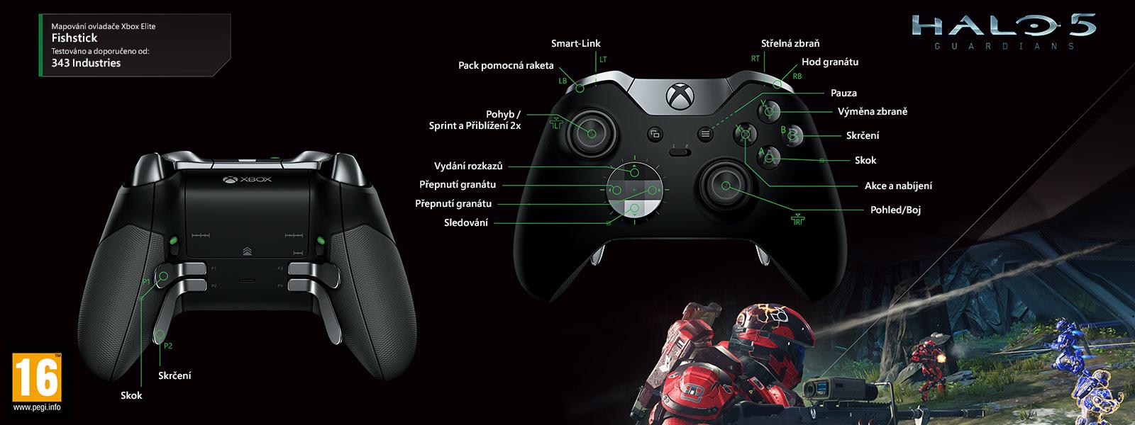 Halo 5 – elitní mapování ovladače fish stick
