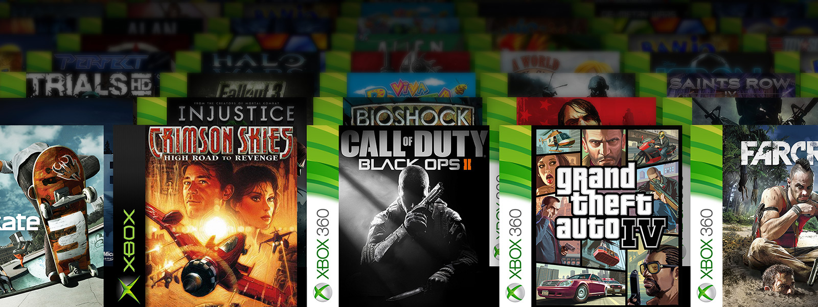 a collage of backward compatible games