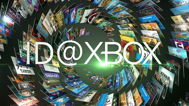 Id at xbox logo going down a swirling tunnel