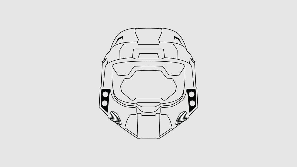 Illustration of the Master Chief helmet from Halo 2