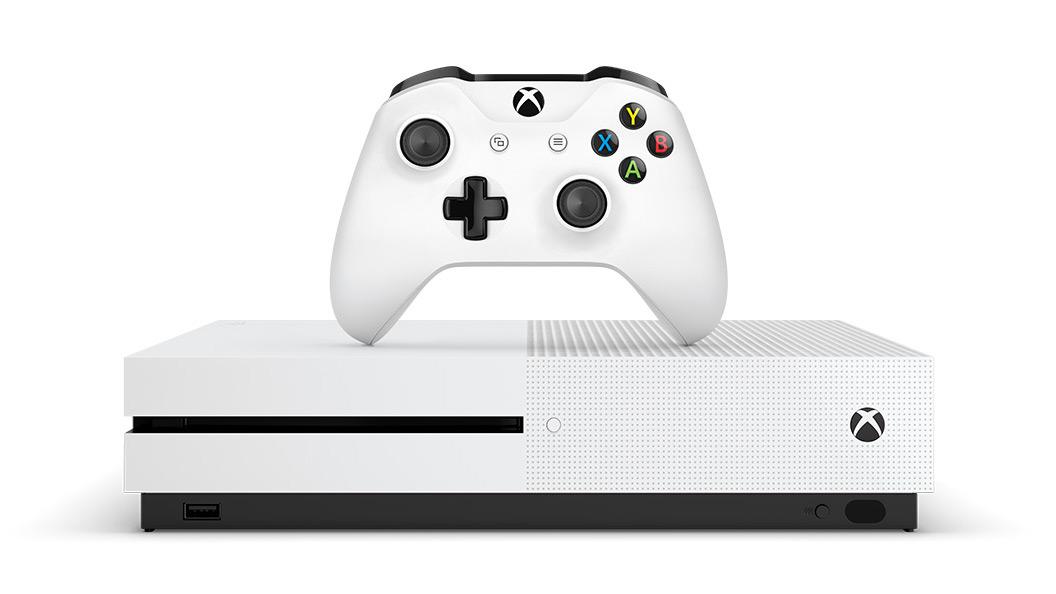 Консоль Xbox One S и беспроводной геймпад
