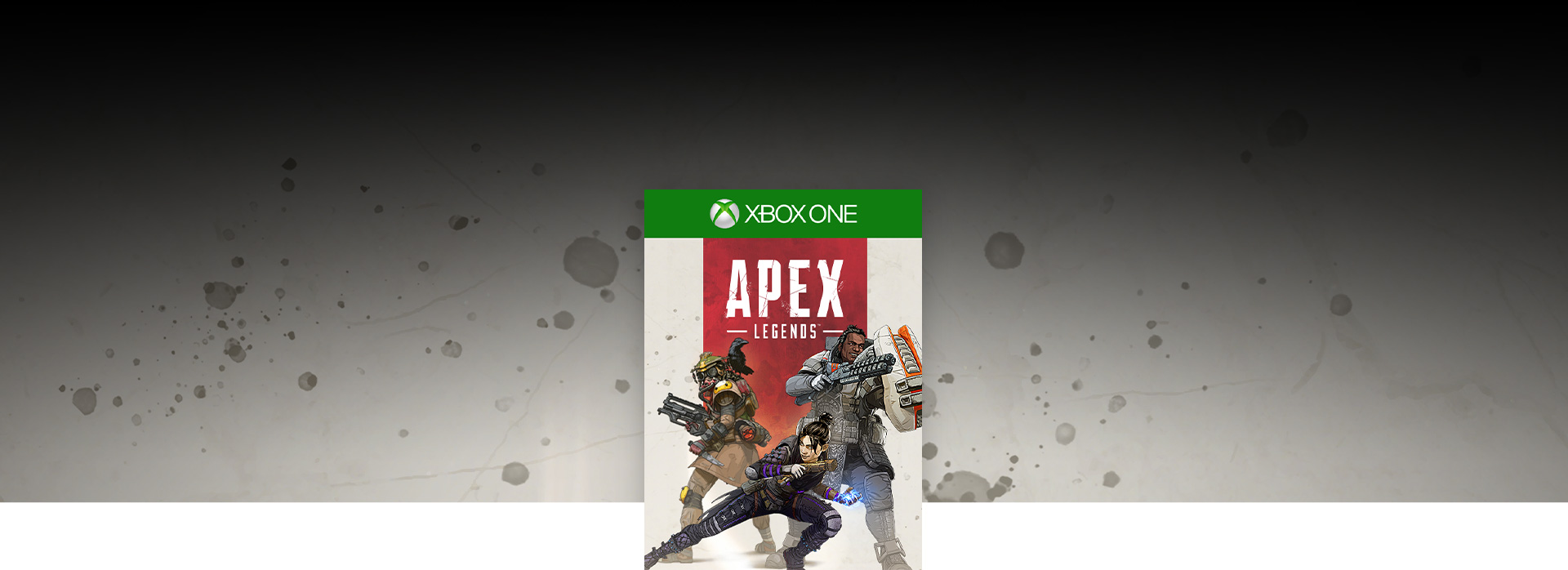 Apex Legends box shot over gray textured background