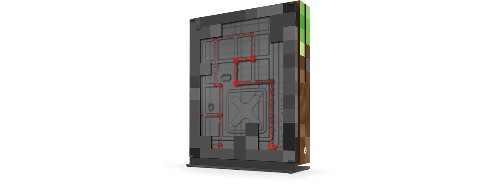 Xbox One S Minecraft Limited Edition Bundle back view