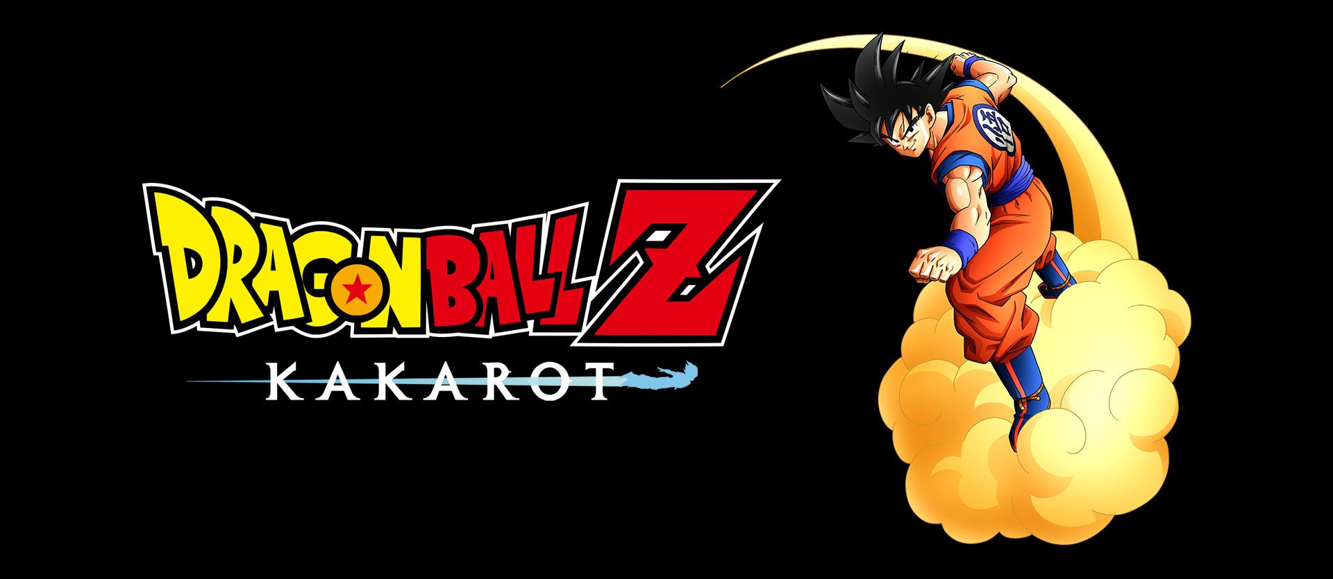 Dragon Ball Z: Kakarot logo with Goku on a cloud
