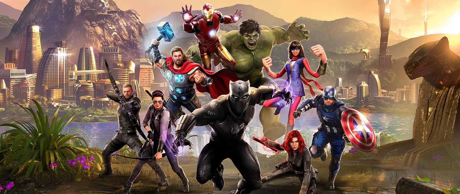 Black Panther mène les Avengers au combat à travers le Wakanda