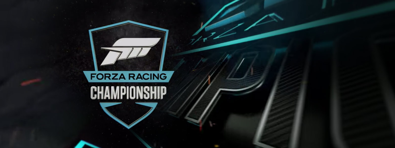 Forza Racing Championship, close-up van gestructureerd racing championship-logo