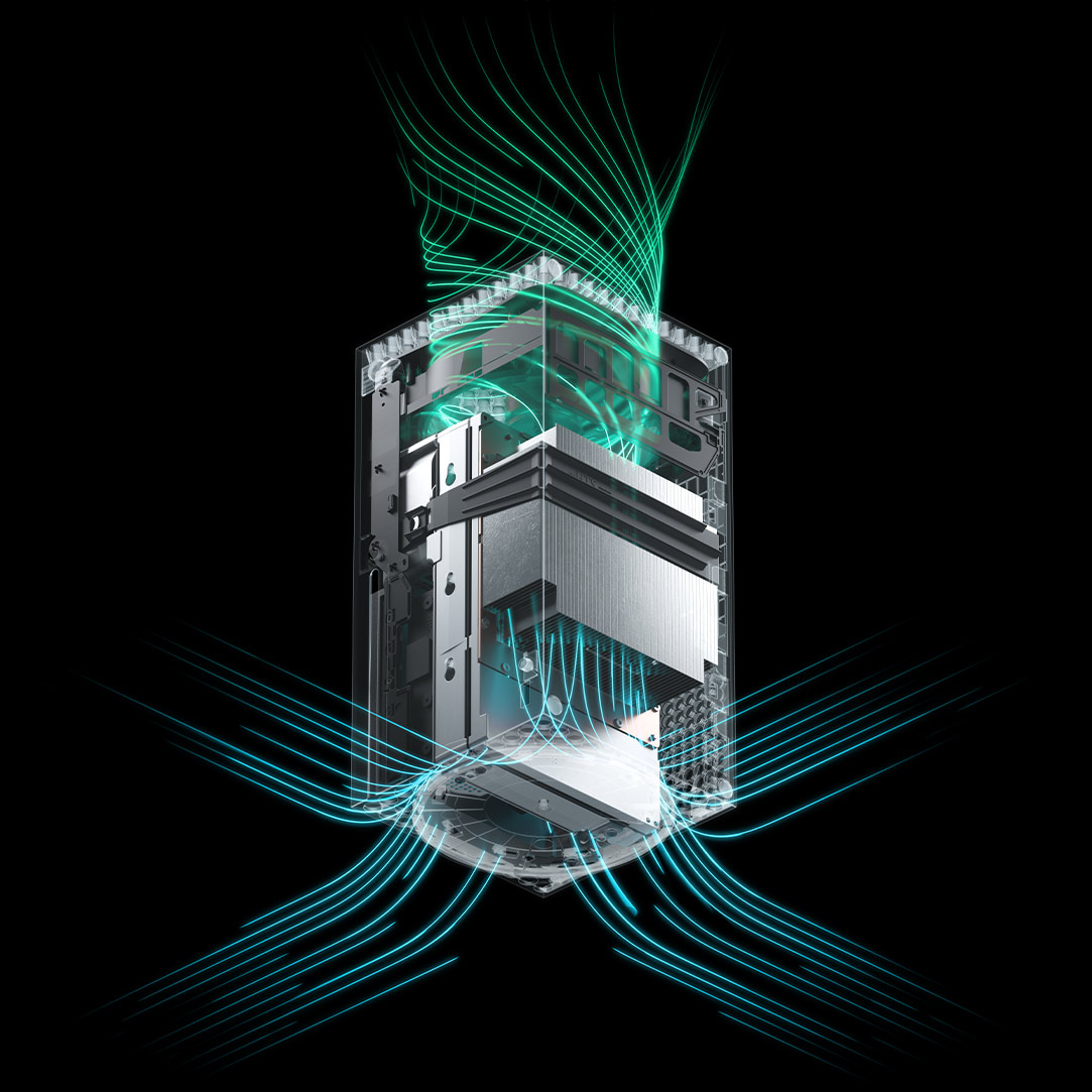 Airflow illustrating the ventilation in the Xbox Series X