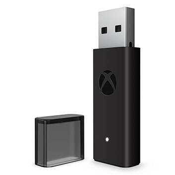 Detail view of Xbox Wireless Adapter for Windows 10