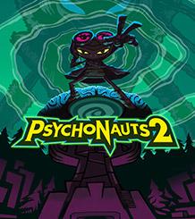 Psychonauts2, Razputin se tient debout, la main tendue, face à un ciel vert en spirale.
