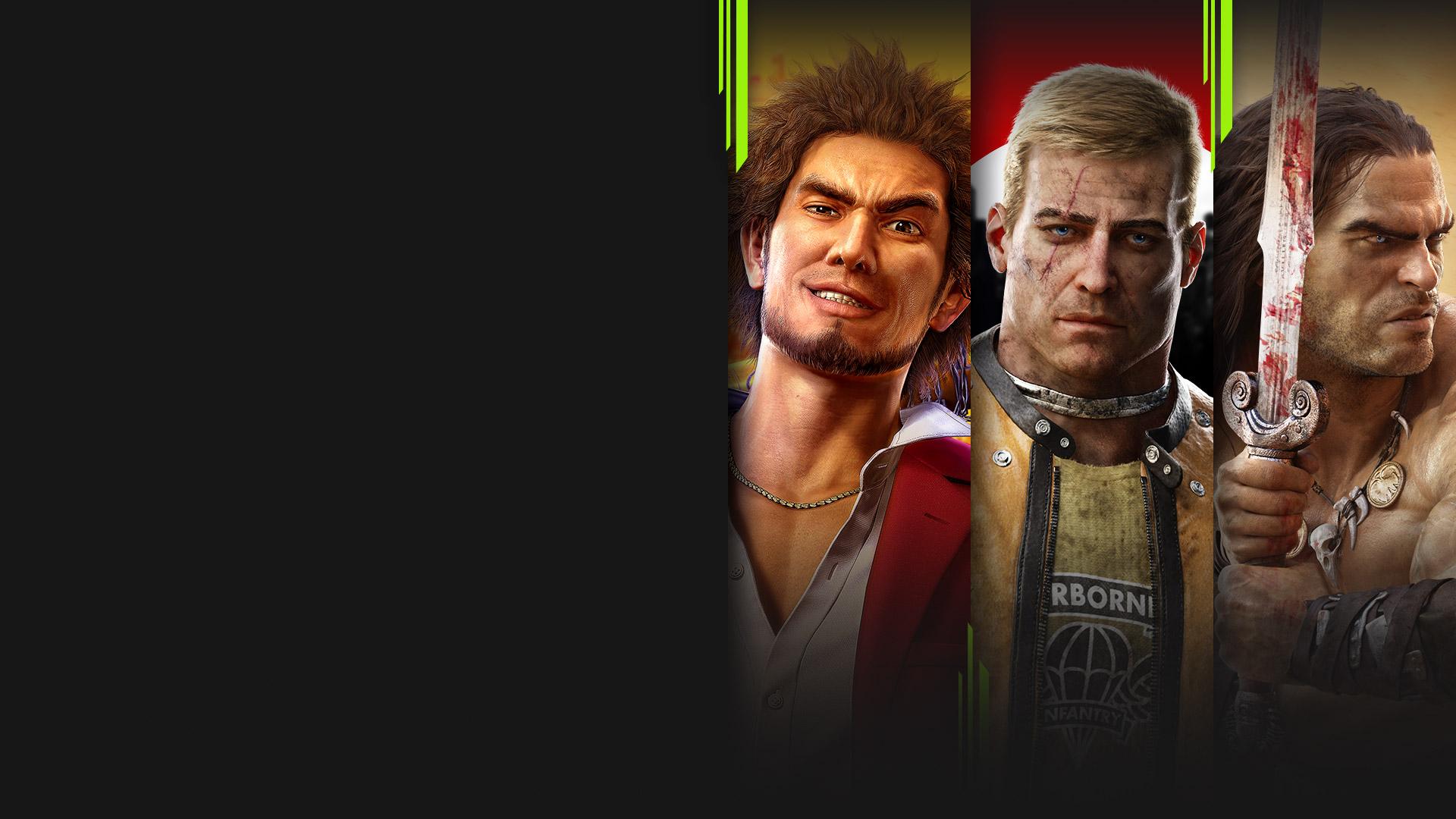 Imagen de varios juegos ahora disponibles con Xbox Game Pass, incluidos Yakuza: Like a Dragon, Wolfenstein II: The New Colossus, Fallout 3 y Conan Exiles.