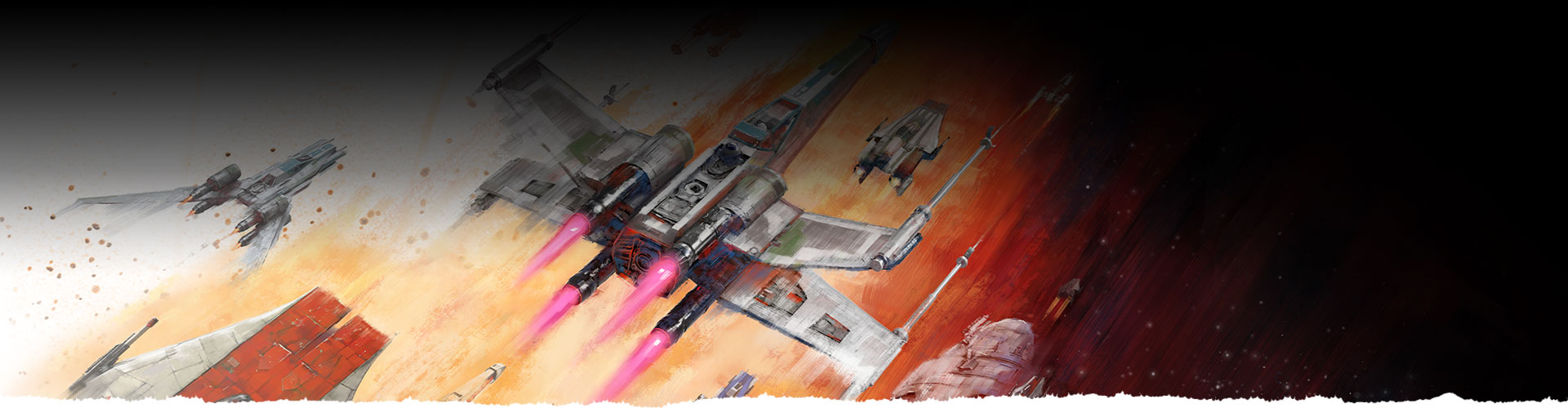 Spaceships from Star Wars: Squadrons