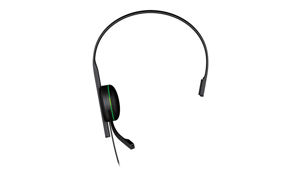 Vista frontal do Auricular de Chat Xbox