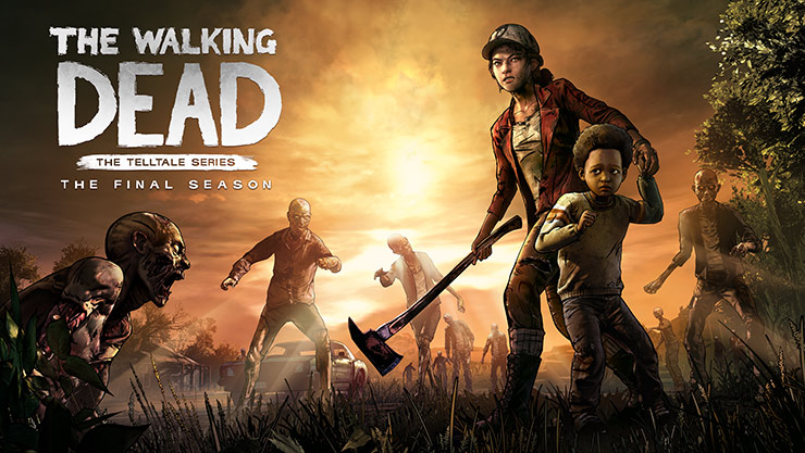 The Walking Dead: The Final Season, A horde of walkers surround a teen girl and young boy
