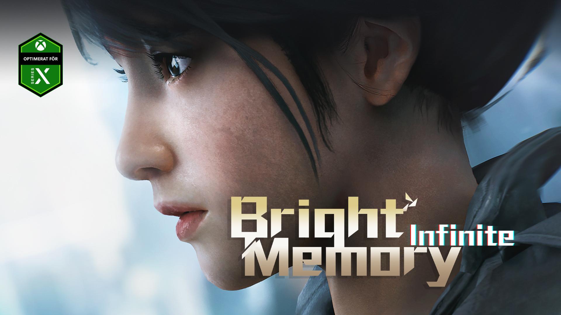 Bright Memory Infinite, Optimerat för Series X, en ung kvinna tittar ut i luften.