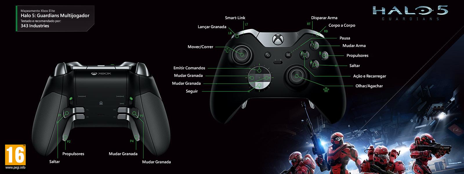 Mapeamento Elite para Halo 5 – Guardians Multiplayer