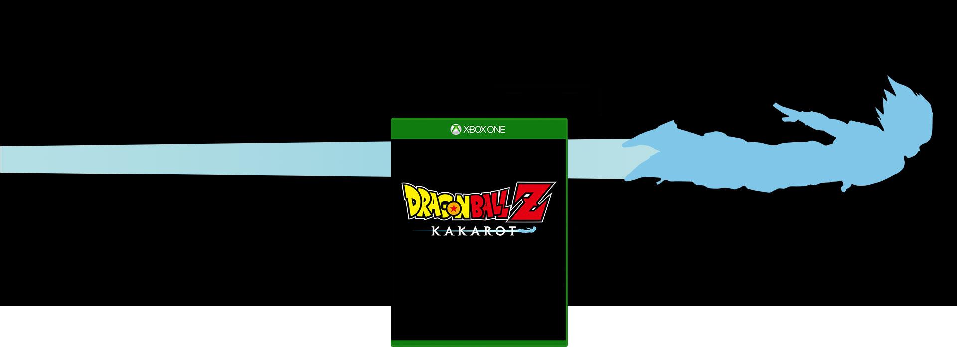 Dragon Ball Z: Kakarot boxshot with a blue outline of Goku flying horizontally
