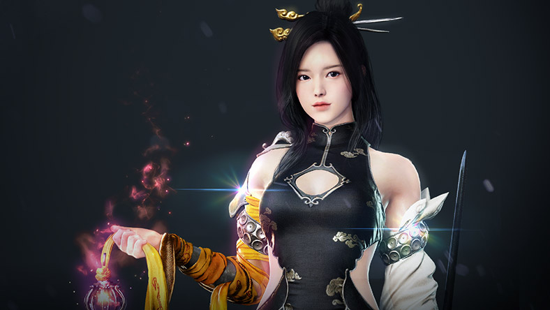 Female Sorceress character from Black Desert