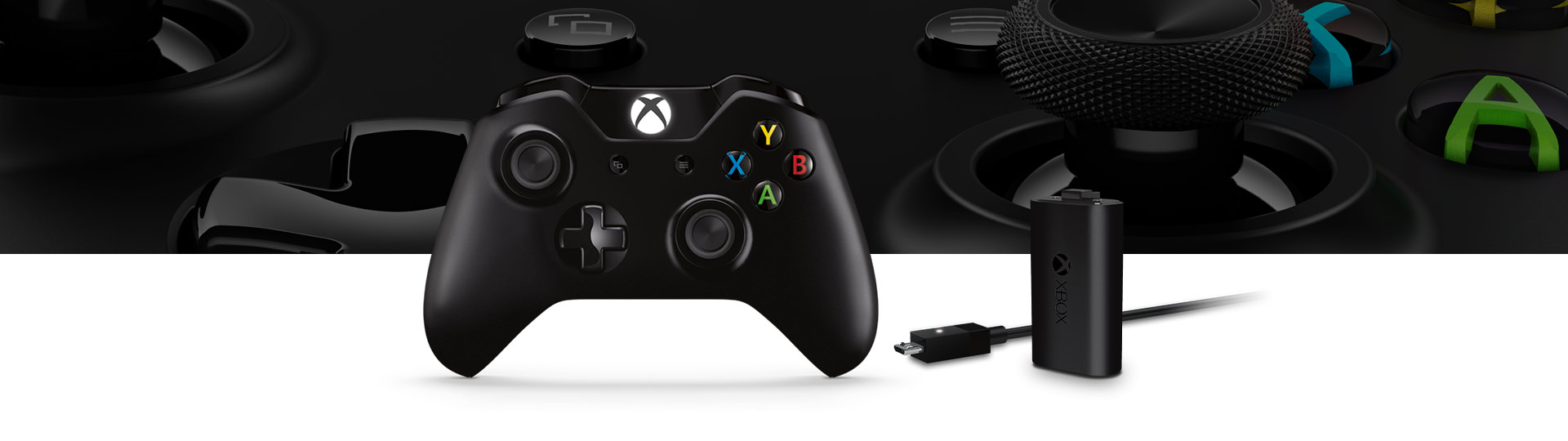 Manette sans fil Xbox One avec trousse de chargement Play and Charge