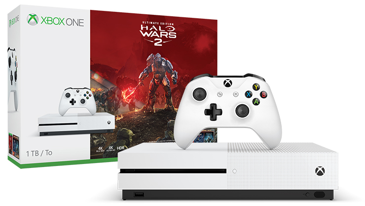 Xbox One S (1 To) + Halo Wars 2