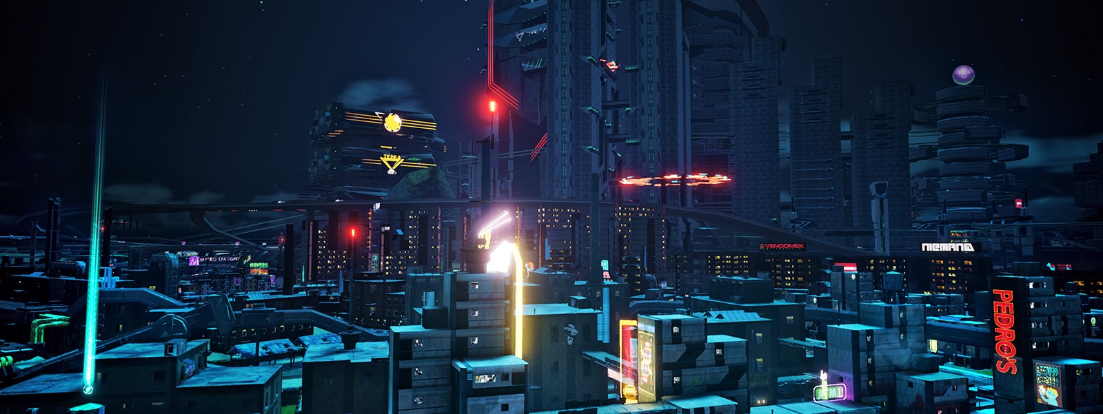 Captura de ecrã do Crackdown 3 com HDR