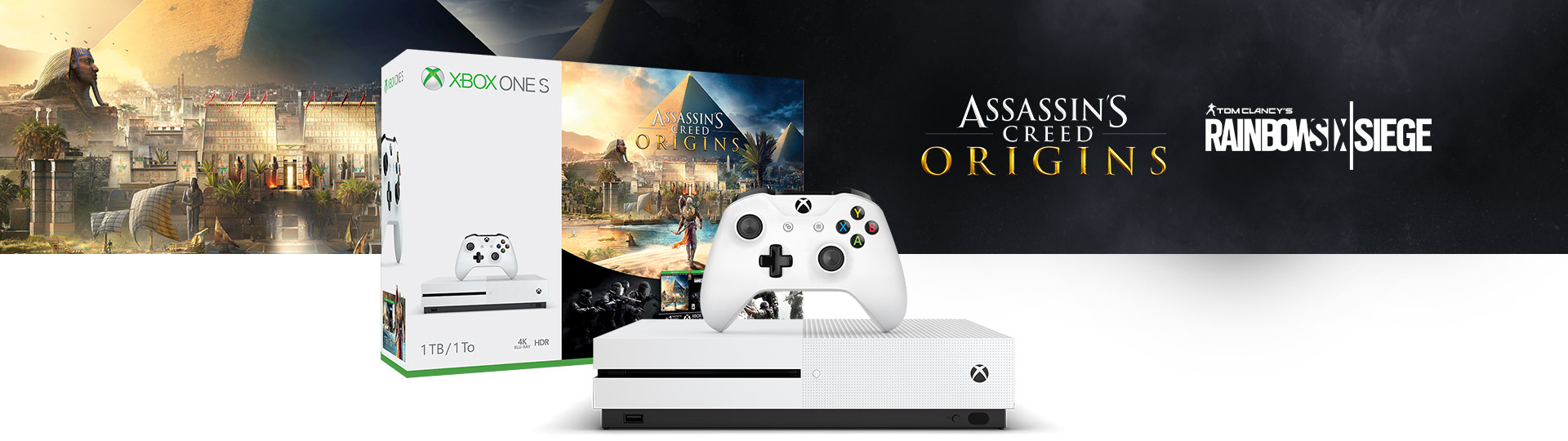 Πακέτο Xbox One S Assassin's Creed: Πακέτο Origins Bonus (1TB)