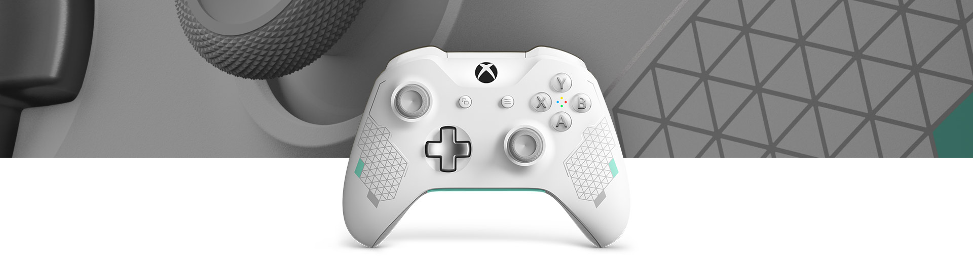 Front view of Xbox Wireless Controller – Sport White Special Edition