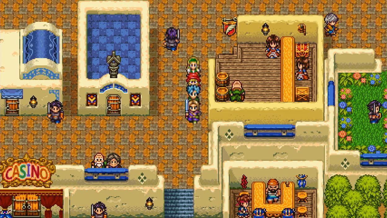 16-битный режим 2D города с казино