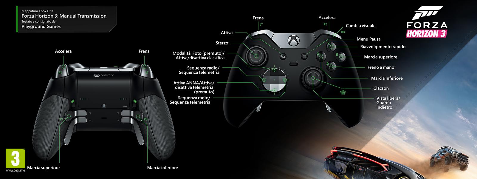 Forza Horizon 3 – Mappatura Elite per il cambio manuale