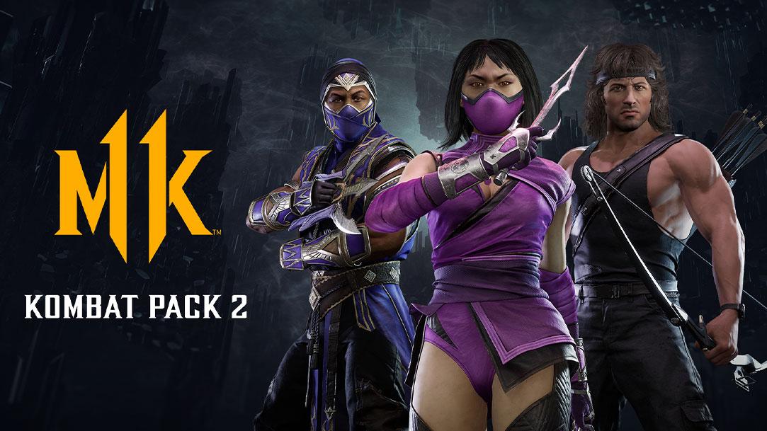 MK, Kombat Pack 2, trois personnages les armes à la main.