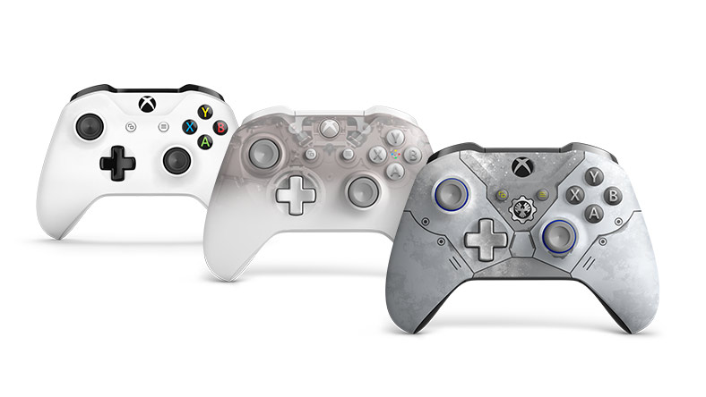 3 Xbox Wireless Controllers on a white background