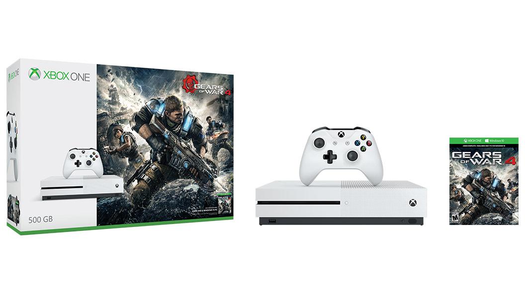 Imagen de la caja de Gears of War 4 de 500GB para Xbox One S