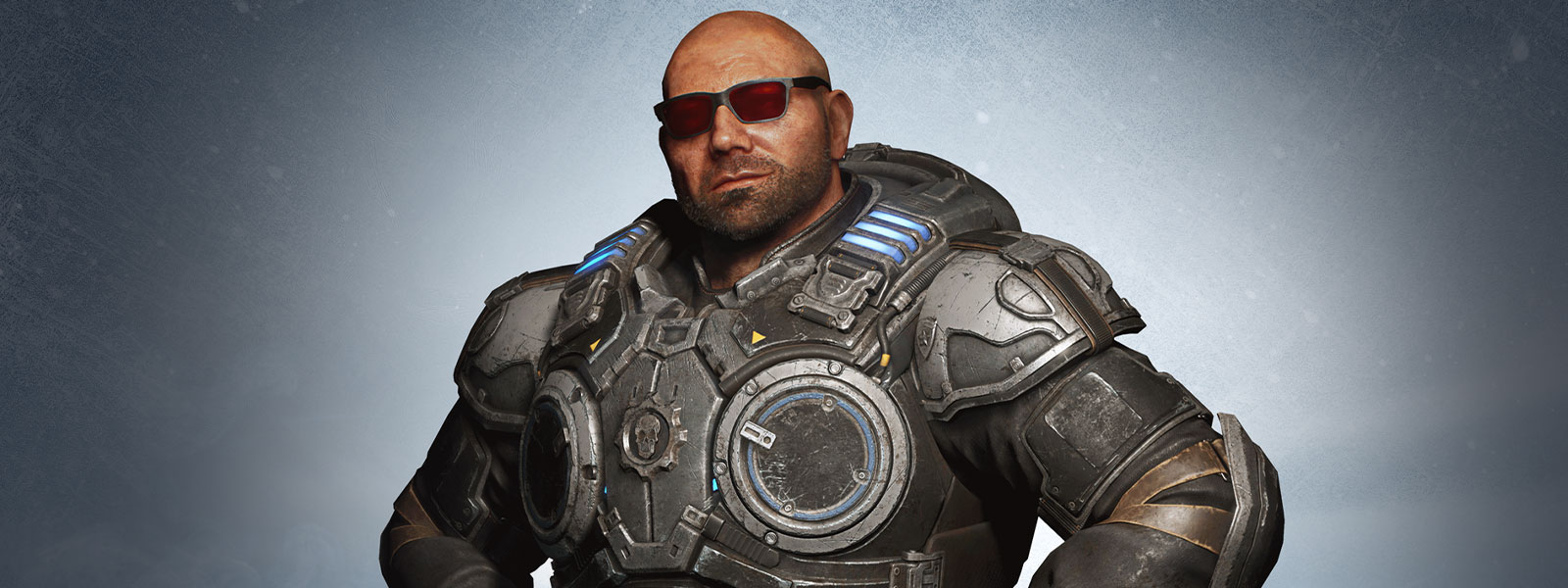 Torso view of Batista in Marcus Fenix's Gears armour