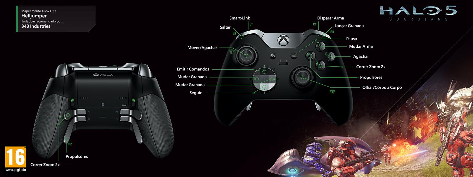 Mapeamento Elite para Halo 5 – Helljumper